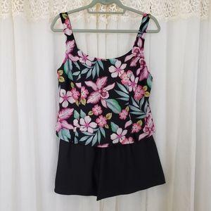 Indigo Bay One Piece Swimsuit Size 14 Floral 0199